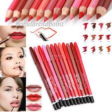 12PCS Lot Colors Pro Lipstick Lipliner Waterproof Lip Liner Pencil Makeup Sets