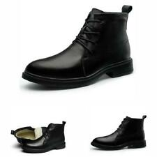 Fall Winter Mens High Top Faux Leather Work Ankle Boots Shoes Fur Inside Warm L