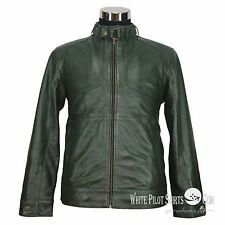 New Leather jacket for Men Bomber Waxed Lamb Gents Soft Genuine Motorbike Trendy