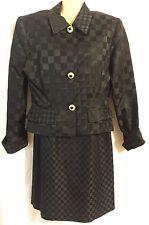 J S Boutique Solid Black Cocktail Evening Dress & Jacket Size 10 EUC