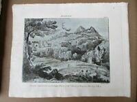 Vintage Engraving,DRAWING,Gasper Poussin,1810