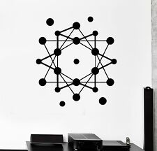 Wall Stickers Atom Science School Geometric Modern Style Vinyl Decal (ig1475)