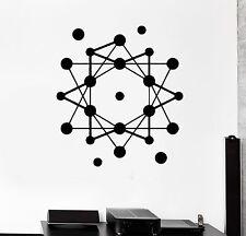Wall Stickers Atom Science School Geometric Modern Style Vinyl Decal (ig1475)