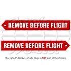 REMOVE BEFORE FLIGHT Aircraft USAF RAF 150mm Vinyl Stickers, Decals x2