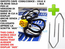 Cavo cavetto Kit AUX Mp3 ALFA 159 LANCIA Musa Y FIAT 500 Grande Punto Panda ..