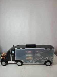 Hot Wheels Showcase Semi Truck Car Vehicle Storage Display Case With Cars
