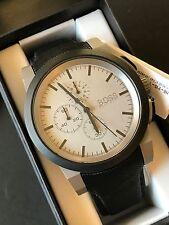 HUGO BOSS Men's Neo Chronograph Watch Grey Dial Black Nylon Strap 1512978 NWT