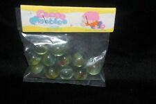 Vintage Glass Cat Eye Marbles Bag of 11 Old Store Stock SEALED