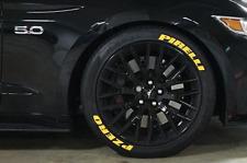 "Tyre Lettering (Permanent Raised Rubber Letters) - Pirelli PZero (Yellow) 1"""