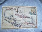 ANTIQUE CIRCA 1750's ORIG. WEST INDIES MAP with FLORIDA - THOMAS JEFFERYS