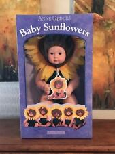 """Baby Sunflowers ~ By Anne Geddes ~ Ages 18 Months & Up ~ """"1998"""" ~ Nib"""