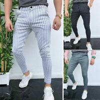 Pantalones Vaqueros Ajustados Para Hombres Moda Rotos Destrozados Moda Elegante Ebay