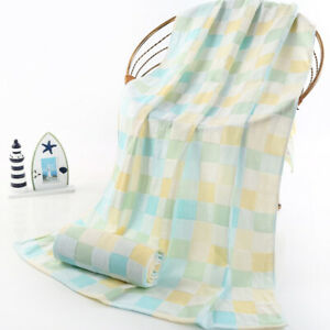 55in X 28in Bath towel thin for summer soft gauze cotton towels 2 PLY for kids