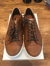 Men's Coach New York Perkins Soft Port Sneakers Shoes - Saddle Brown Size 8