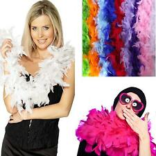 Feather Boa Strip Fluffy Craft Costume Dress Wedding Party Decoration 2M White