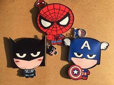 Batman American Captain Spider-Man Keychain Coin Case Purse Wallet Card Holder