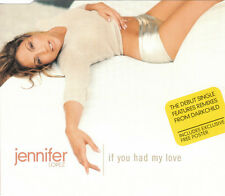 JENNIFER LOPEZ  IF YOU HAD MY LOVE 3 TRACK CD SINGLE WITH POSTER FREE P&P