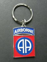 US ARMY 82ND AIRBORNE METAL ENAMEL KEY RING CHAIN KEYCHAIN KEYRING 1.5 INCHES