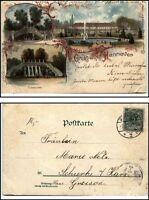 1899 Gruss aus HANNOVER Niedersachsen Litho-AK Mehrbildkarte nach Schierke Harz