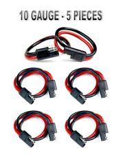 "12"" 2 Pin Quick Disconnect 10 Gauge Polarized Molded Connectors Electric 5 Pcs"