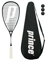 Prince Pro Sovereign 650 Squash Racket + 3 Squash Balls + Cover RRP £170