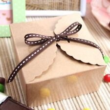 High Quality Retro Mini Kraft Paper Box Wedding Gift Favor Party Candy Cake Box