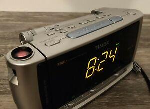 TIMEX T741 Dual Alarm Clock w/Soothing Sounds Display Projector Radio Flashlight