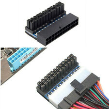 Female ATX 24Pin to 24pin Male 90 Degree Power Adapter Mainboard Motherboard TW
