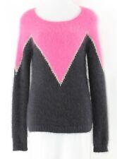 Juicy Couture XS Black Magenta Silver Angora Polyamide Metallic Sweater N230