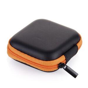 1/3pcs Portable Small Storage Case Zipper Coin Pouch Bag Earphone Headphone Box