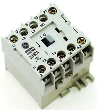 New GE Miniature Din Rail Magnetic Contactor CR6CAC 480VAC COIL CA4-5-10-480