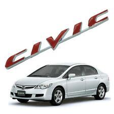 Badge Emblem Logo CIVIC Red Plating Fits Honda Civic FD 4 Doors 2006 2007 - 2011