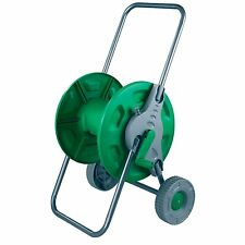 Kingfisher trolley wheels hose reel garden watering pipe free standing winder