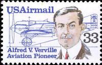1985 33c Alfred Verville, Aircraft Designer, Airmail Scott C113 Mint F/VF NH