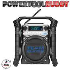 PERFECT PRO TEAM PLAYER DAB BLUETOOTH SITE WORK RADIO CHARGER 240V BATTERY