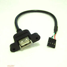 30pcs Internal Motherboard USB 4pin 4p female to A female Extension Cable