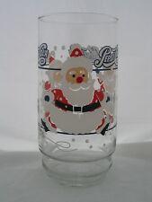 Pepsi-Cola Santa Glass featuring Santa Skating around the Glass