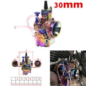 Colorful 30mm Performance Carb Carburetor For 150cc 200c PIT PRO Dirt Quad Bike
