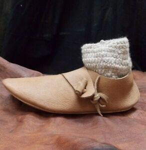 Viking & Saxon Re-enactment Turn shoes, York type 4a1, early medieval shoes