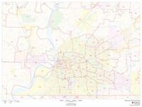 Wake County North Carolina Zip Codes Laminated Wall Map Msh Ebay