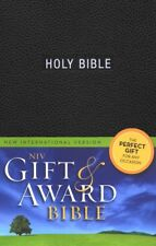 New International Version Gift & Award HOLY BIBLE BLACK Imitation Leather