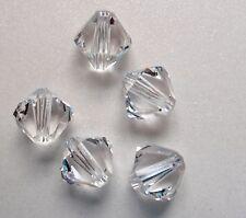 30 Swarovski® Kristall Perlen XILION Beads 4mm CRYSTAL (001) Art. 5328