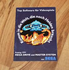 1991 Sega Genesis Mega Drive Master System Ad Booklet Heft PaperBoy Populous etc