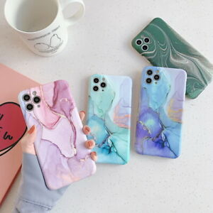 Marble Phone Case For iPhone 12 Pro Max 11 8 7 XR XS X ShockProof Silicone Cover