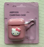 Cute Pink Hello Kitty Earphone Cover & Strap For Apple AirPods Case Bag Skin
