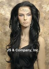 Hi Heat LACE FRONT WIG Long Wavy Black 008 1