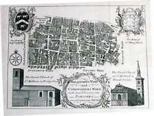 Antique map, Breadstreet Ward and Cordwainers Ward ...
