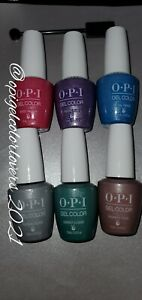OPI Gelcolor Polishes *Velvet Visions ** Authentic! Full 6 bottles with magnet