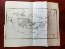 1915 Murray River Valley Melbourne Australia Map Irrigation Water Supply Map