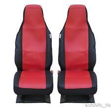 2 avant voiture Housse de siège sièges une pièce Rouge pour Opel Renault